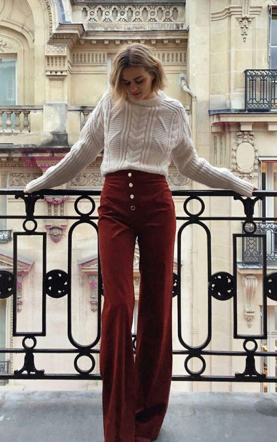 Time for Fashion » Guía para llevar el pantalón de campana como una francesa