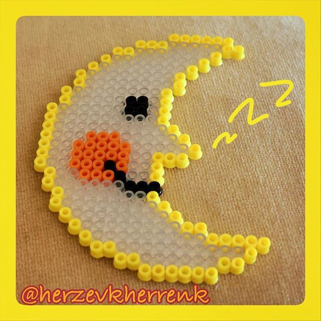 Moon hama beads by herzevkherrenk