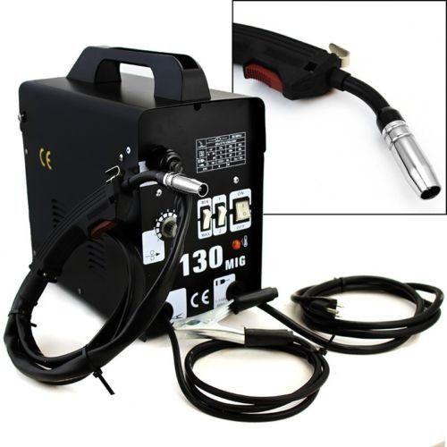 maquina de soldar de microalambre mig-130 sin gas 110 volts