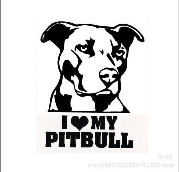 Pitbull Car Mural Window Sticker Art, Pitbull Lover, Organic Pet World Art Collectables