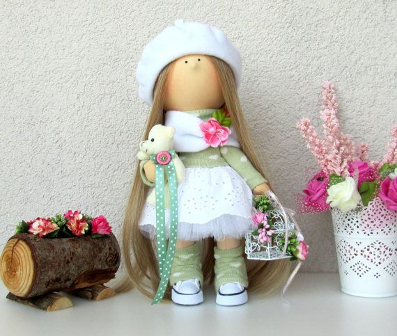 Lilly Doll-Handmade Doll-Fabric Doll-Rag от NICEDOLLSANDRABBITS