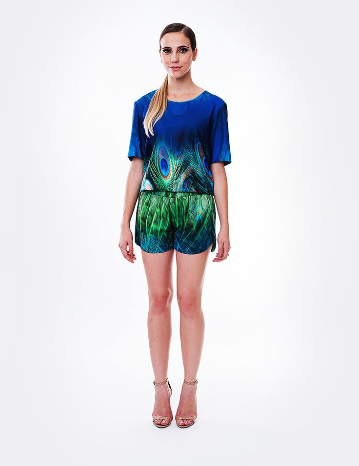 Blusa Peacock Water