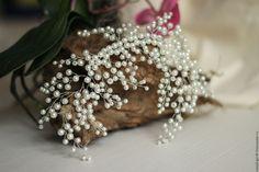 """Купить Украшение для невеста """"Свадебный венок"""" Свадебное украшение в прическу - белый, свадебное украшение"""