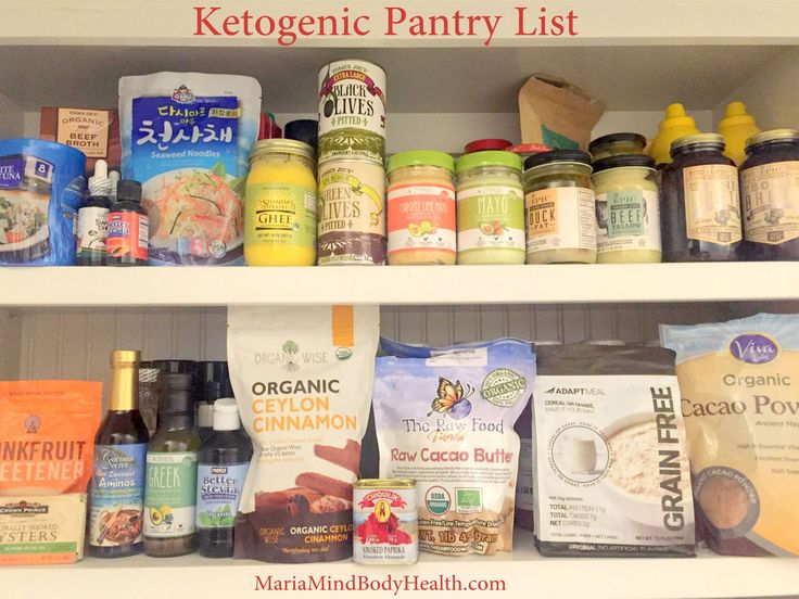 Ketogenic Pantry List, how to stock a ketogenic pantry, low carb pantry list…