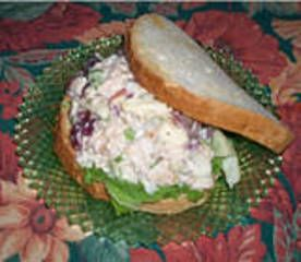 AWARD Winning recipe from Taste of Home from Ivy Eresmas. States that this tangy tuna salad gets fun flavor from sweet pickle relish and lots of crunch from apples, celery and walnuts. This recipe is great for non-tuna lovers because the sweetness takes the edge out of the fishy flavor of tuna. . .it is more sweet and tangy. I have served this on Hawaiian Sweet Bread and it is FANTASTIC!!!