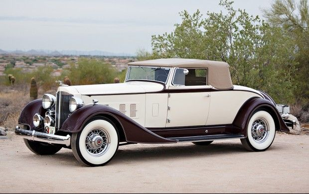 1934 Packard Super Eight 1104 Coupe Roadster Voiture Moto