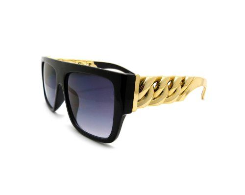 Unisex Hot Celebrity Style Thick Gold Chain Look Acrylic Sunglasses Bk/Gold MLC Eyewear,http://www.amazon.com/dp/B00COB27ZE/ref=cm_sw_r_pi_dp_kdlUsb1WWBHJCG37