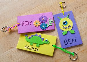 Foam Name Tags Recipe Back To School Pinterest And Projects