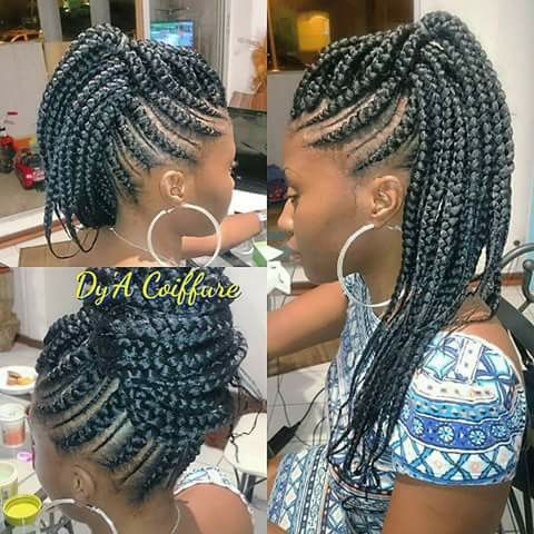 box braid/ crochet braid on Pinterest Protective styles, Short box ...