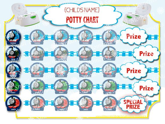 sticker reward chart for potty training