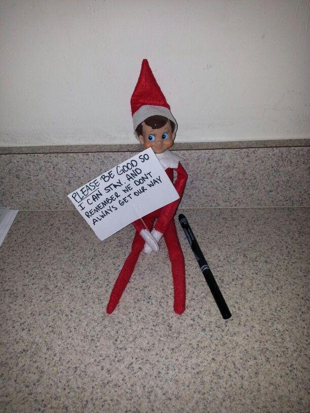 Elf Warning For Bad Behavior Elf Magic Bad Elf Elf On
