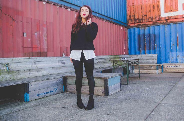 OOTD - La Strada Shoes Giveaway on www.everyday-escapism.com http://www.lastradashoes.com/high-heel-laarsjes/Boots_Booties/Platte_korte_laarsjes.html