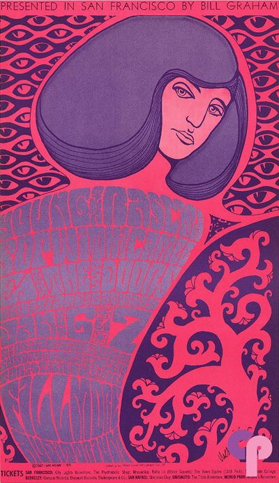 Young Rascals at Fillmore Auditorium 1/6-8/67 by Wes Wilson