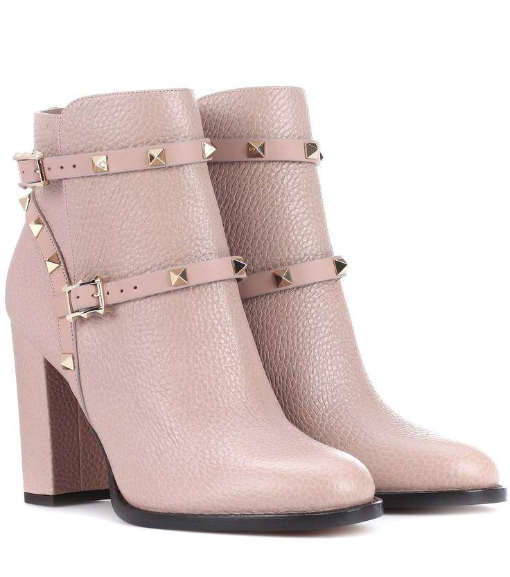 Valentino Valentino Garavani Rockstud leather ankle boots