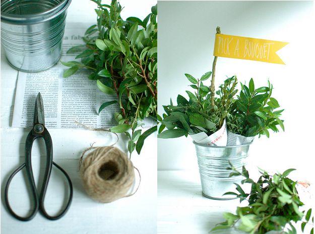 summer wedding favor idea - pick your own herb bunch: Wedding Anniversaries Gifts, Sweet, Marketing Gifts