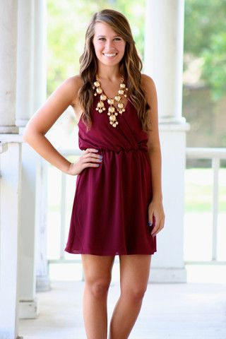Cut Above Dress - Maroon-- MORE cute game day outfits! Love!!