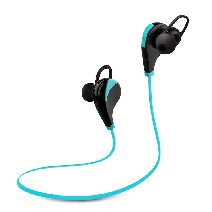 AMIR Bluetooth Headset, Stereo Noise Cancelling Headphones With Mic, Sweatproof Bluetooth Earbuds Headset Earphones for iPhone 7, 6, 6 Plus, 5 5c 5s iPad and Android Devices (Blue). 【Bluetooth 4.0 with Apt-X】 This wireless sports headphones makes rich stereo sound to enjoy perfect music.With apt-X codec, it provides pure, CD-like crystal clear sounds and high-fidelity stereo music. 【Fantastic Sound Quality】 Compatible with most Bluetooth-enabled cell phones, this bluetooth earphones for...