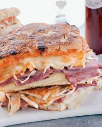 The ultimate Reuben sandwich? This version from Food & Wine pairs fresh focaccia with local corned beef and Gruyère cheese.