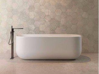 Freestanding Krion® bathtub UNIQUE   Bathtub - Systempool