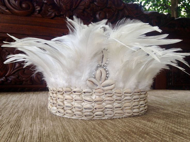Handmade Crochet Feather & Shell Headress Indian Boho Festival 3 colours by Avoka on Etsy