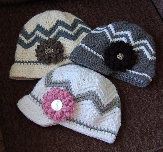 Crochet Pattern: Chasing Chevrons Newsboy by ACrochetedSimplicity