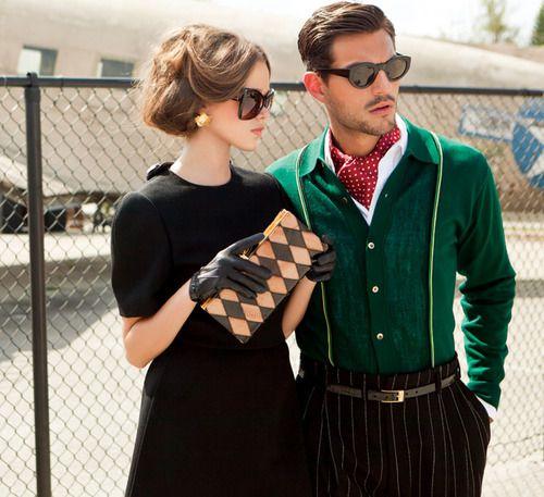 Sunglasses Couple: Fashion Couple, Plays Dresses Up, Palms Beaches, Guys Clothing, Street Style, Men Fashion, Costume, Gloves, Little Black Dresses