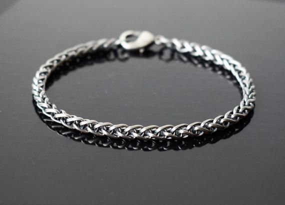 Mens Bracelet Mens Silver Bracelets Bracelet Men Men Chain Etsy Mens Bracelet Silver Bracelets For Men Mens Silver Necklace