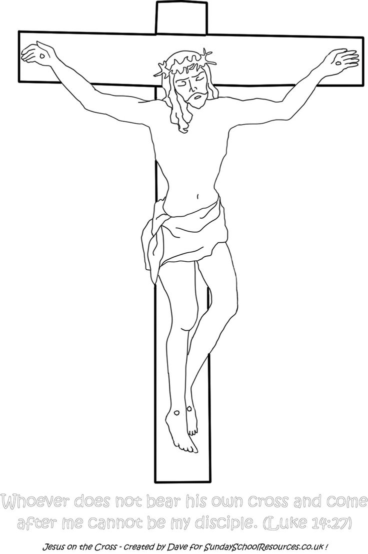 Sunday School Coloring Page Jesus on the Cross church