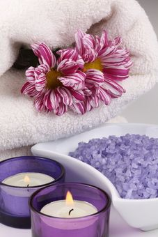 Candles and bath salts. Yes, you may have all those bath products in your cupboard, why not use them for once?