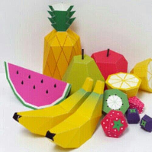 Papercraft buah buahan
