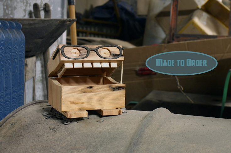 wooden nerdy monster box