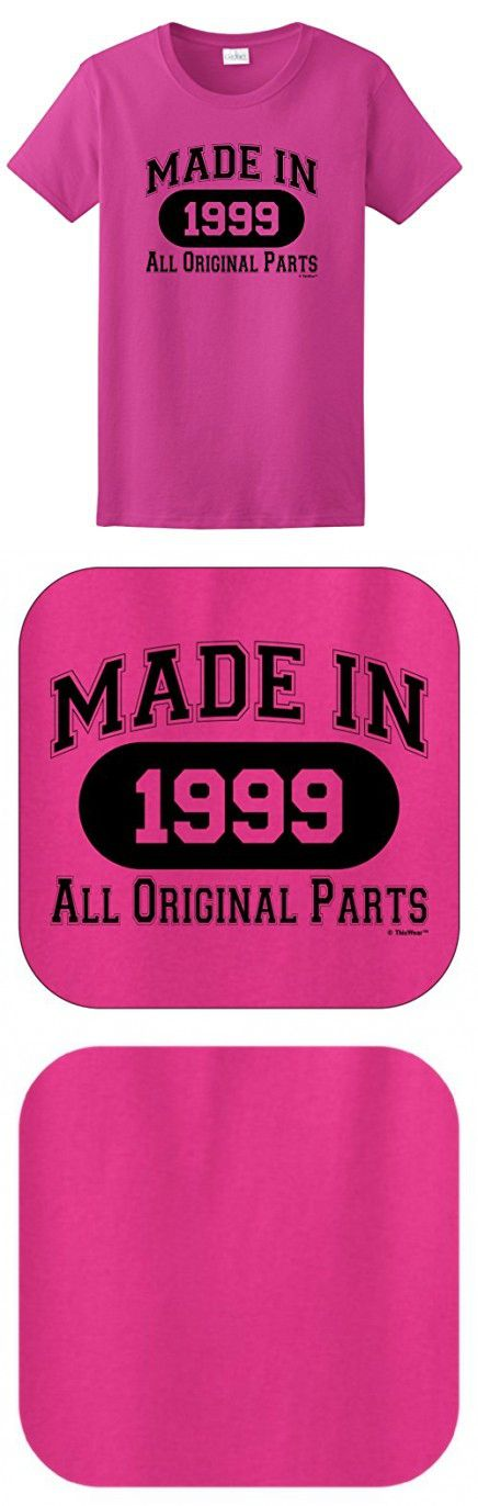 18th Birthday Gift Made 1999 All Original Parts Ladies T-Shirt XL Heliconia