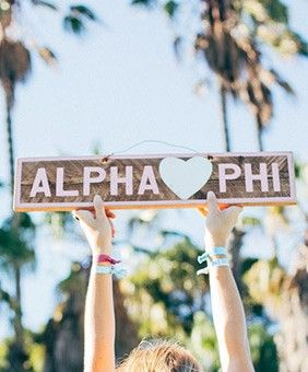 Alpha Phi Vintage Sign by The Social Life