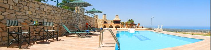 #Relax at the beautiful #terrace of #Michail #Villa, right by the #pool, enjoy the #view and have your best #holiday!
