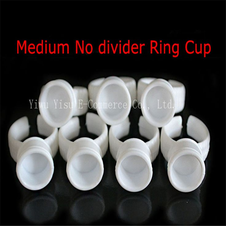 100pcs Medium Size Disposable Permanent Makeup Ring No Divider Tattoo Ink Eyebrow Lip tattoo Pigments Holder Rings Container/Cup