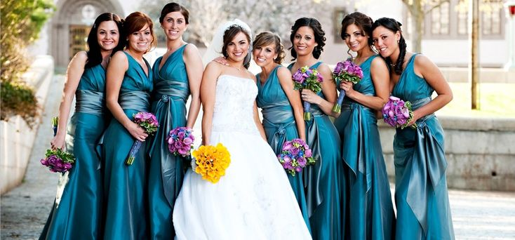 Teal Wedding Party | Teal and Purple Wedding | Pinterest ...