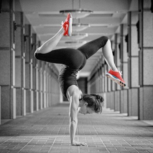 Yoga pose Handstand balance