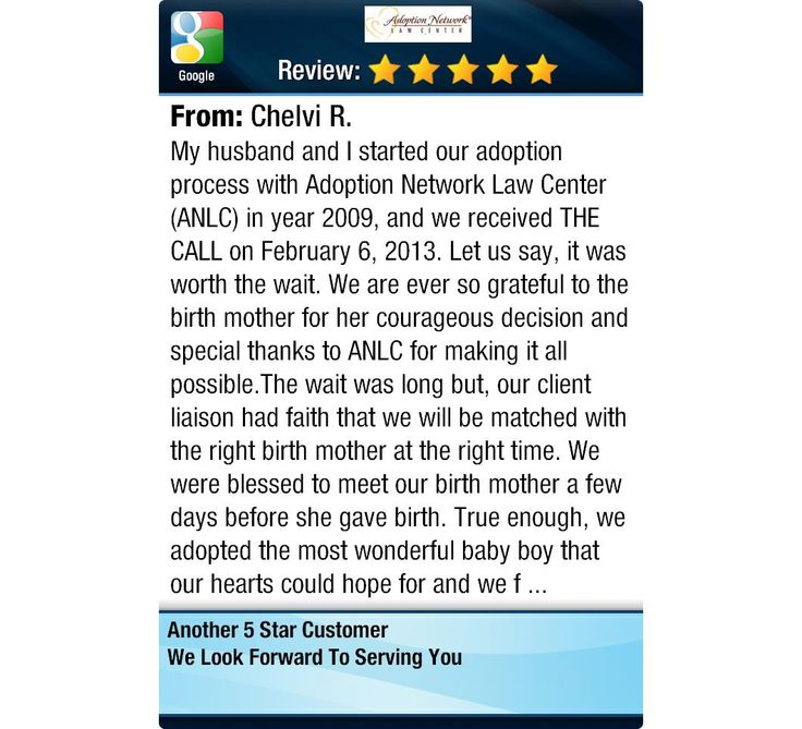 My husband and I started our adoption process with Adoption Network Law Center (ANLC) in...