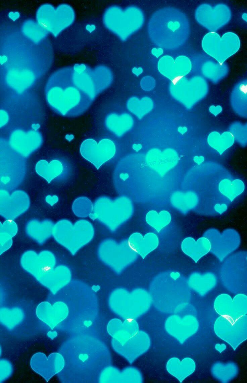 turquoise hearts! Bokeh wallpaper, Valentines wallpaper