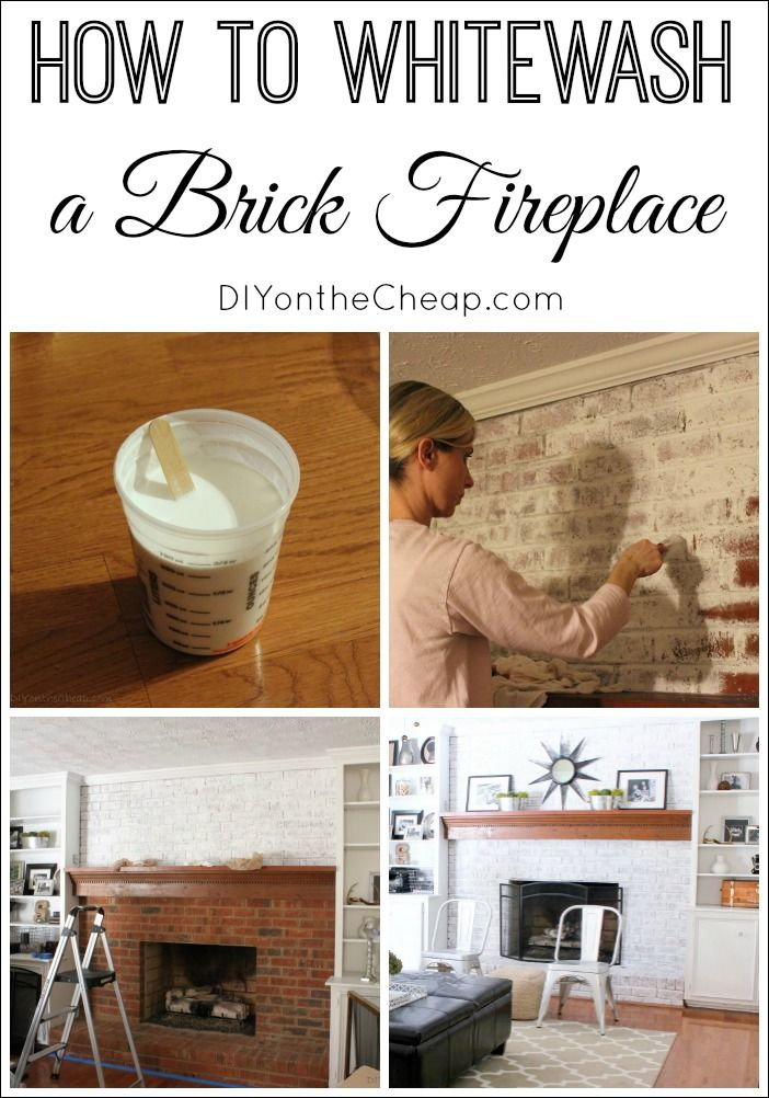 This tutorial makes whitewashing a brick fireplace easy! The before and after is stunning.