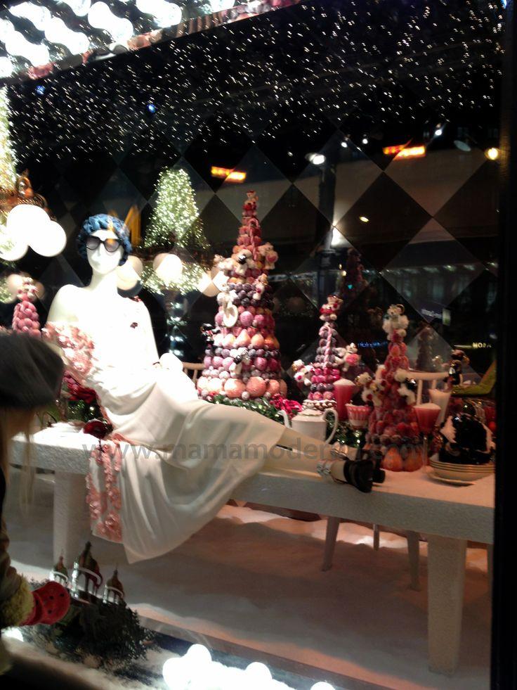 """Escaparates navideños 2013 de """"Printemps"""", Moda y navidad en una sola."""