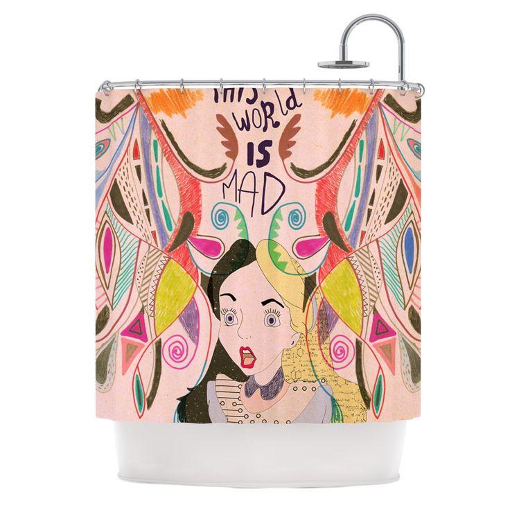 Vasare Nar  Alice in Wonderland  Shower Curtain. 17 Best images about Alice in Wonderland Bathroom on Pinterest