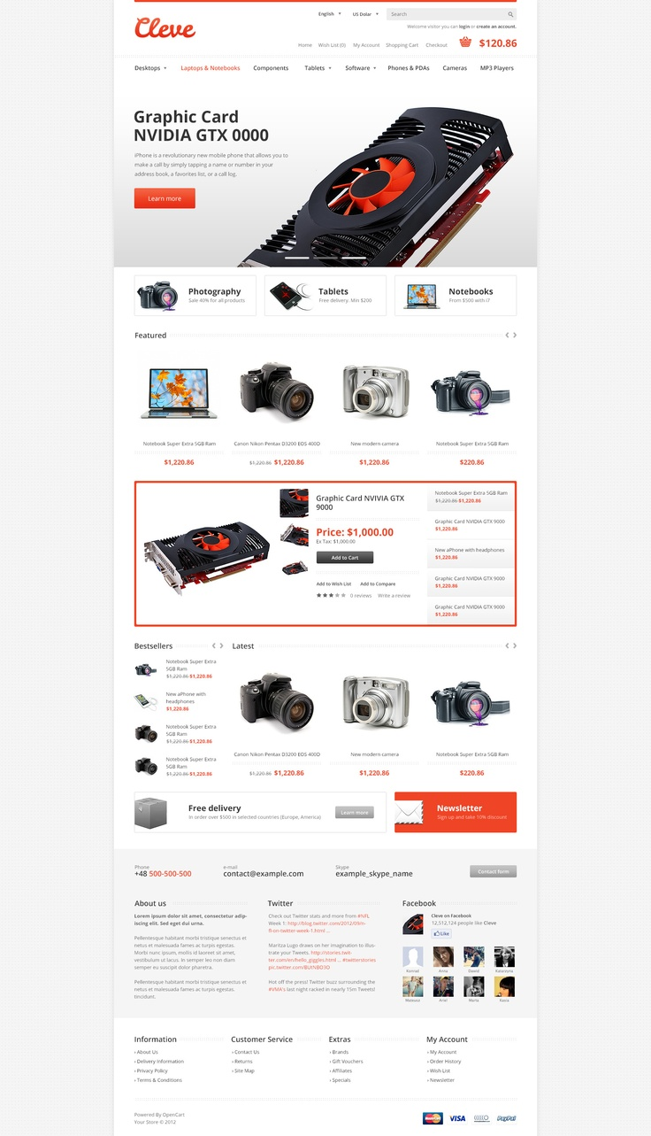 Cleve Modern & Responsive OpenCart Theme #opencart #responsive #ecommerce #retail