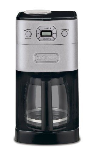 Cuisinart GrindandBrew 12Cup Automatic Coffeemaker Grinds Coffee Beans Fresh for Brewing Features a 12 Cup Glass Carafe with Pause and Brew Feature and Adjustable Shutoff has 14 Cup Brewing Feature Includes Gold Tone Charcoal Water Filter ** More info could be found at the image url.