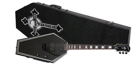 Epiphone Zack Wylde Graveyard Disciple Guitar in black + Coffin Case