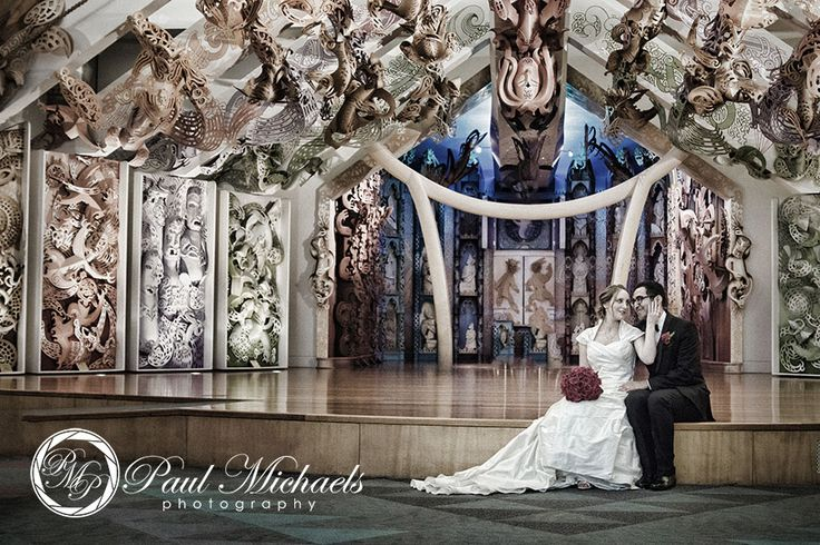 Wedding pictures at Te Marae, Wellington's TePapa museum. New Zealand #wedding #photography. PaulMichaels of Wellington http://www.paulmichaels.co.nz/