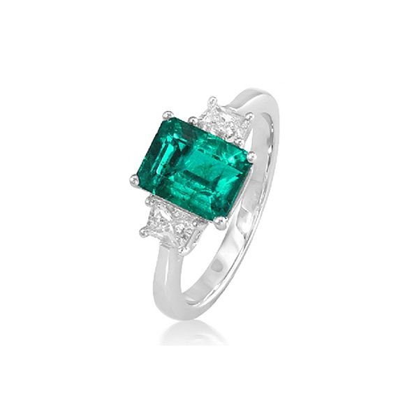 Emerald and Diamond Engagement Ring   BGRT13731578EJF
