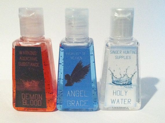 Supernatural Inspired Hand Sanitizer Trio by YourFictionMyReality