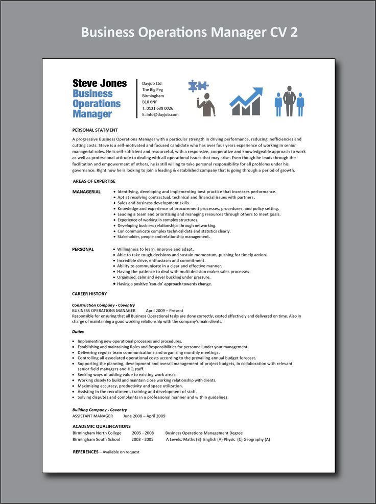 Business Operations Manager Resume (With images