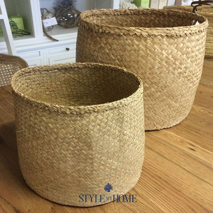 Sea Grass Baskets Planters Storage Tubs Hamptons Coastal from Style My Home Australia